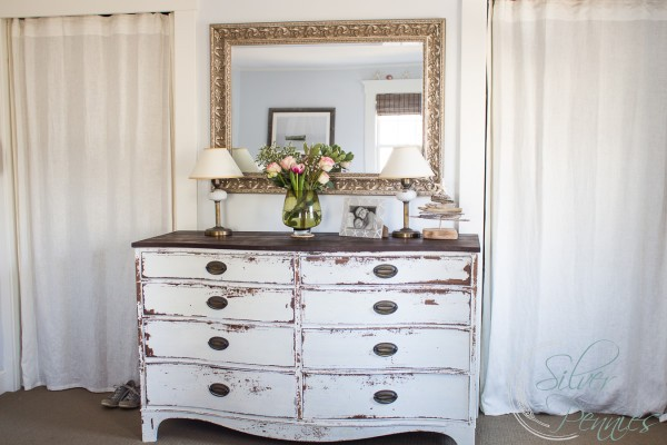 Pretty Chippy Milk Paint Dresser