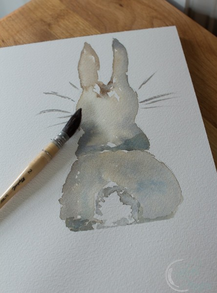 Bunny Watercolor by Finding Silver Pennies