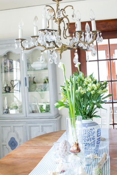 Celebrating Spring in our dining room