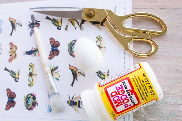 Decoupage Supplies for Easter Eggs