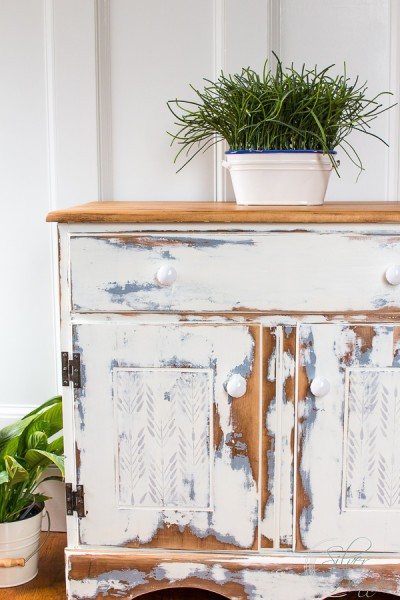 Distressed Farmhouse Cabinet