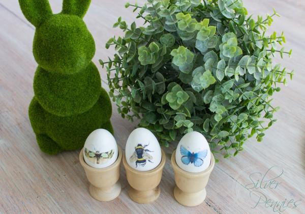 Easy Decoupaged Eggs