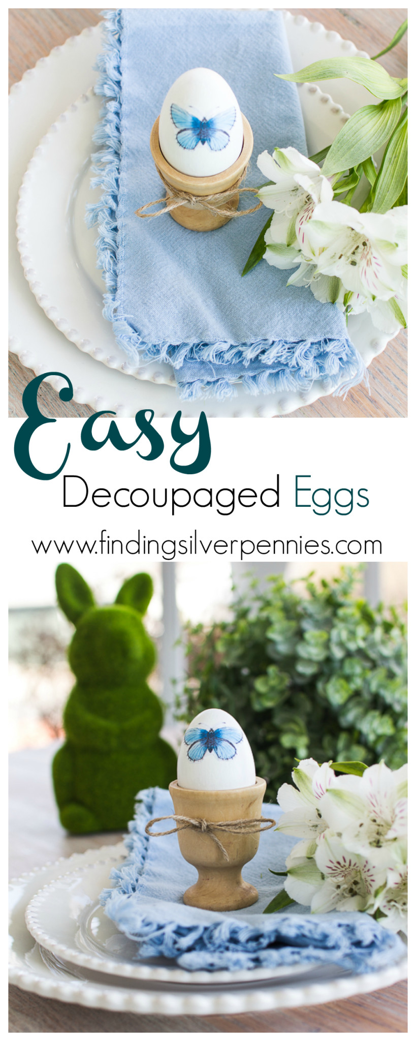 How to Make Easy Decoupaged Eggs