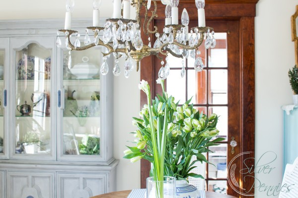 French Dining Room with paperwhites