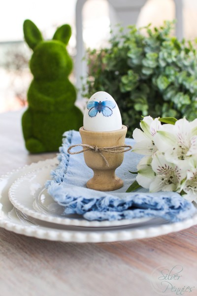 Gorgeous decoupaged eggs