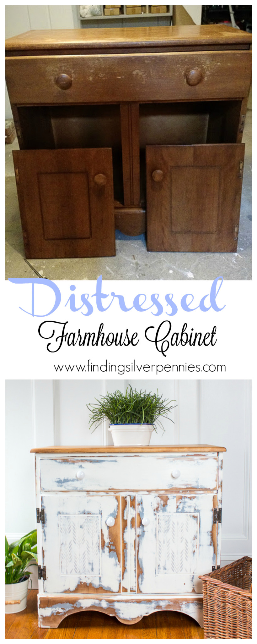 How to Make a Distressed Farmhouse Cabinet
