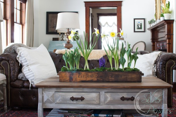 Our weathered coffee table and how to create this look in your own home.