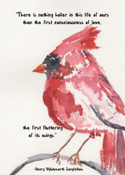 picture relating to Free Printable Pictures of Cardinals identify A Cardinal Watercolor Absolutely free Printable - Discovering Silver Pennies