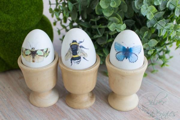 Pretty Decoupaged Eggs