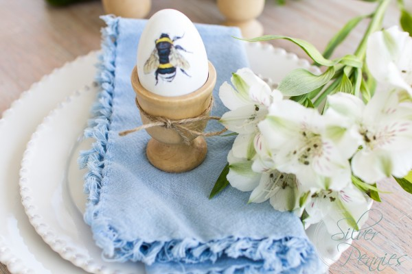 Simple Decoupaged Egg