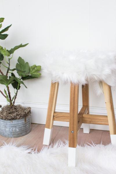 Ikea Hack - Dipped Stool / Swap it Like It's Hot / www.findingsilverpennies.com
