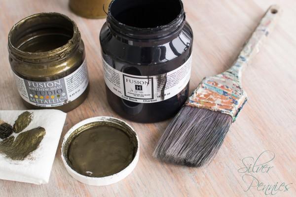 Materials to update a thrift store dresser.