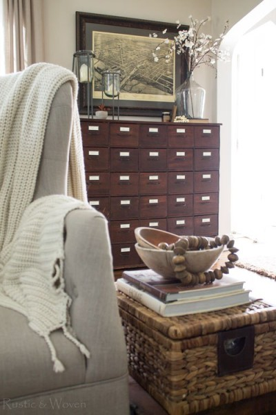 New-hardware-for-antique-apothecary-cabinet-Rustic-Woven