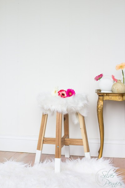 Ikea Hack - Dipped Stool / Swap it Like It's Hot / www.findingsilverpennies.com
