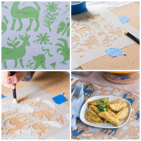 How to Upcycle Ikea Placemats for a Tex Mex Party.