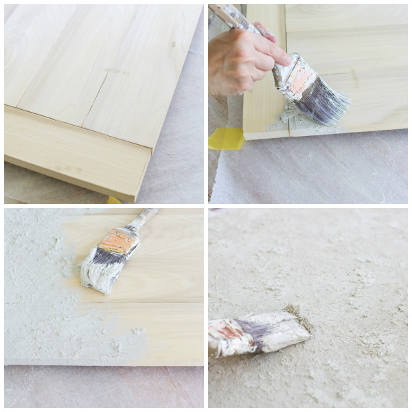 Applying Saltwash to bare wood to create a coastal tray / www.findingsilverpennies.com