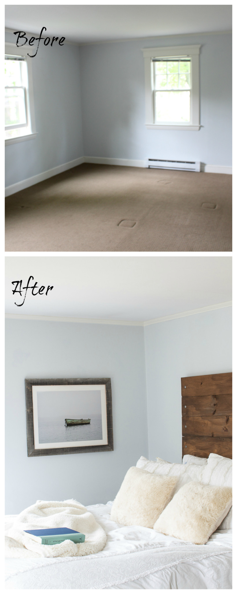 A before & after home tour celebrating three years in our home. It is incredible how much we've done in the past year. Master Bedroom. www.findingsilverpennies.com