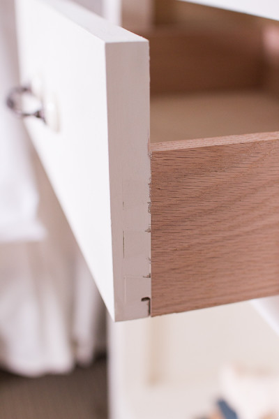 Dovetailed joints created by my husband.