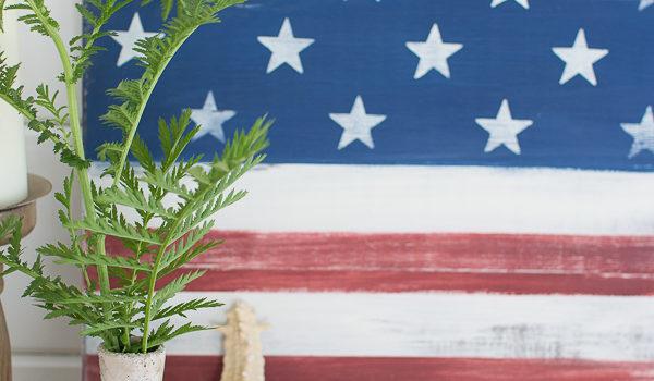 DIY Rustic American Flag