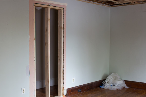 Boys Bedroom Demo - First phase in a coastal bedroom makeover.