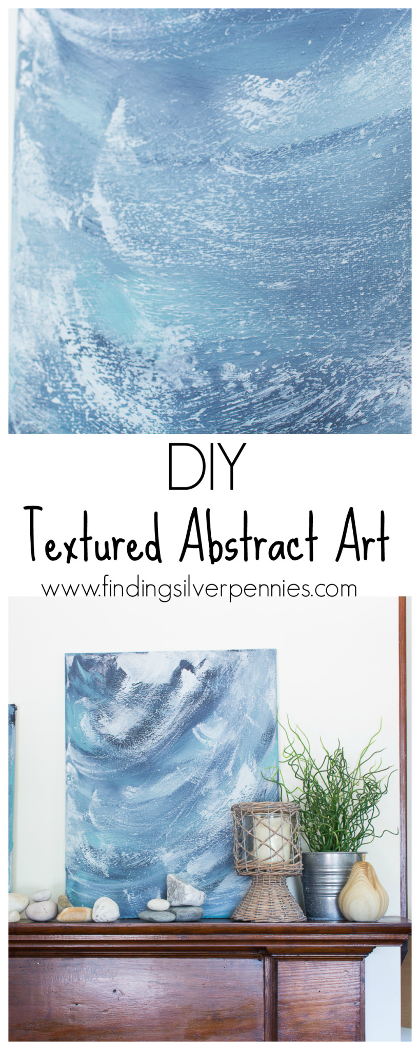 Textured Abstract Art - Finding Silver Pennies