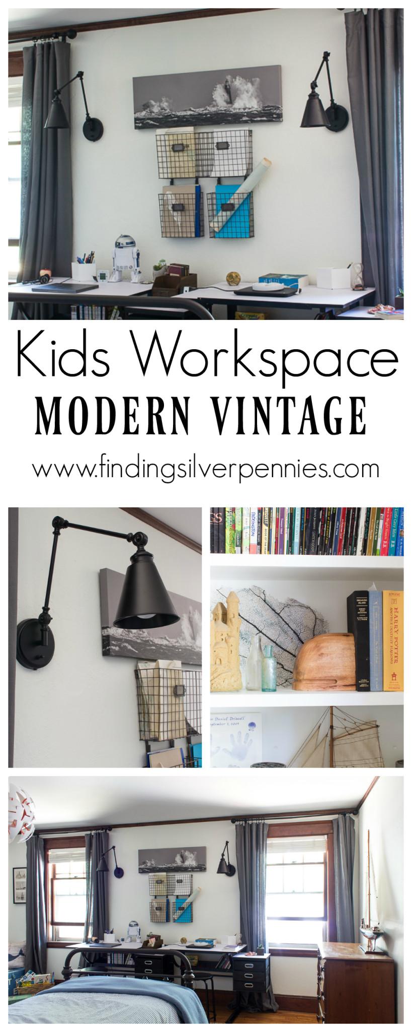 Kids Workspace Modern Vintage Mix
