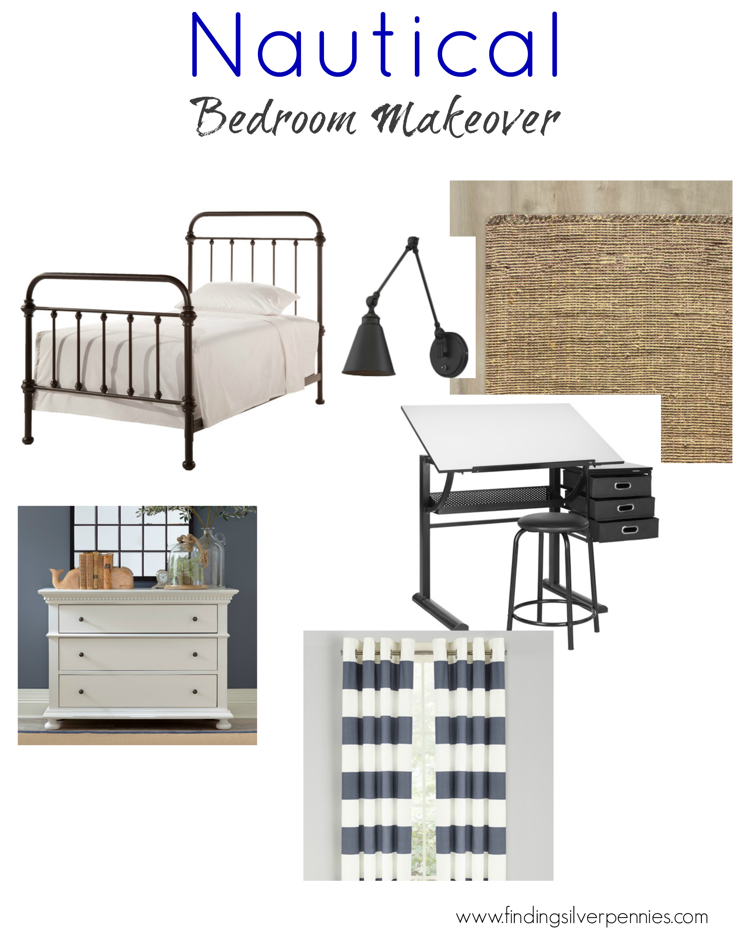 Boys 39 bedroom makeover inspiration finding silver pennies for Bedroom makeover inspiration