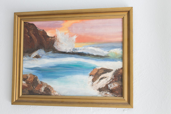 Ocean Oil Painting by my Mother. Perfect for summer decor!