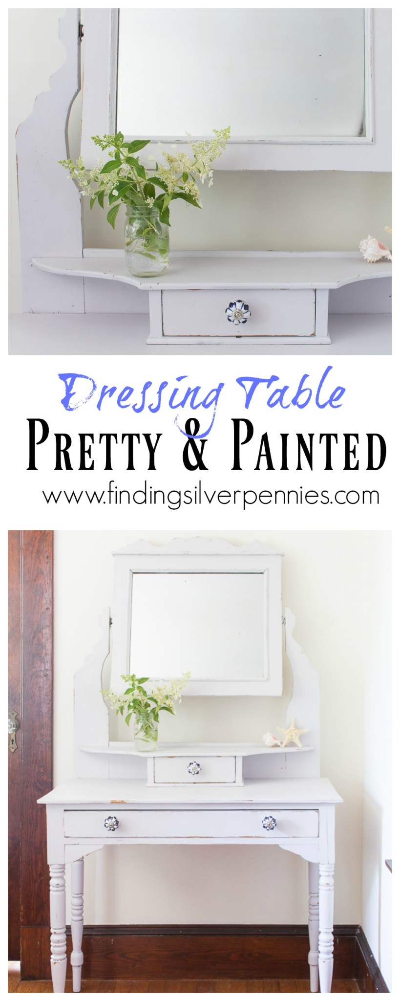 Pretty and Painted Dressing Table
