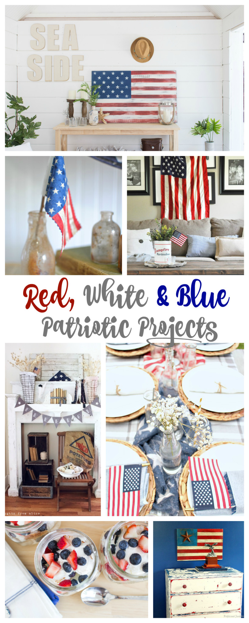 Red White and Blue Patriotic Projects