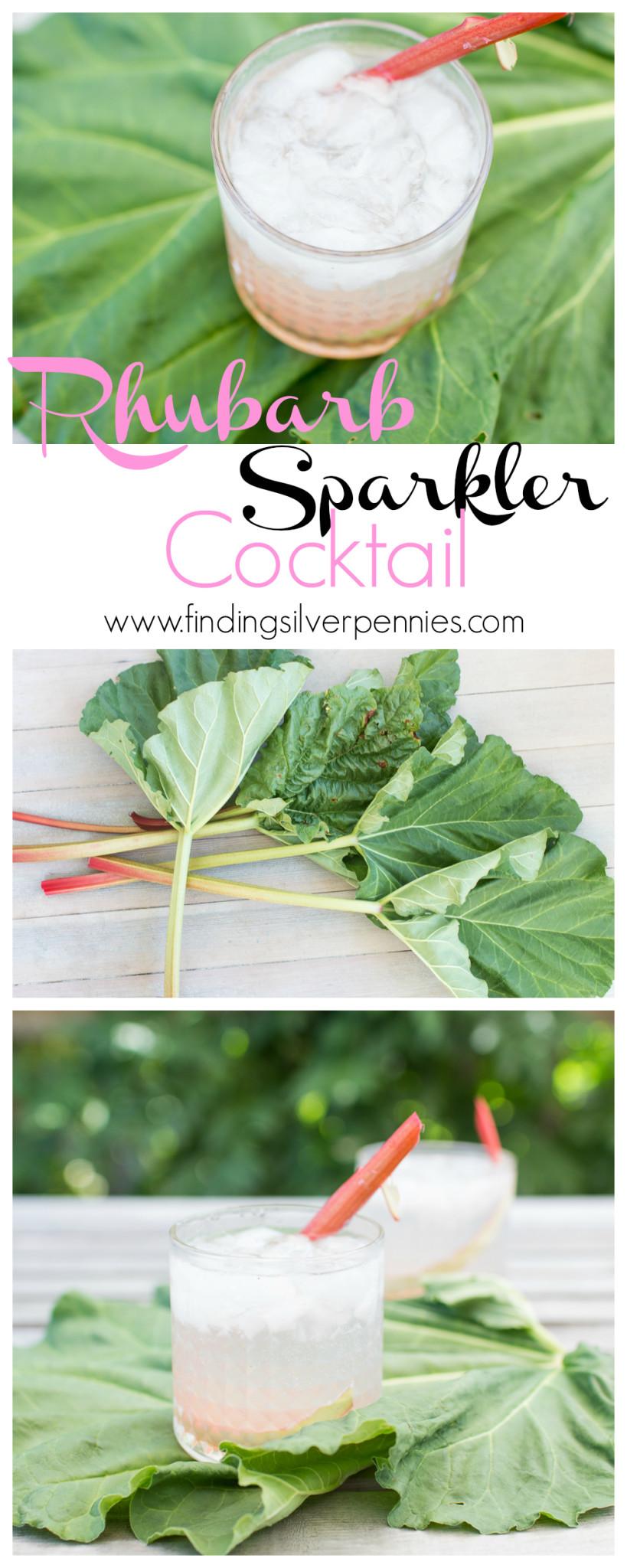 Rhubarb Sparkler Cocktail