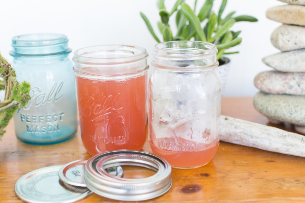 Syrup in jars, cooling for cocktails