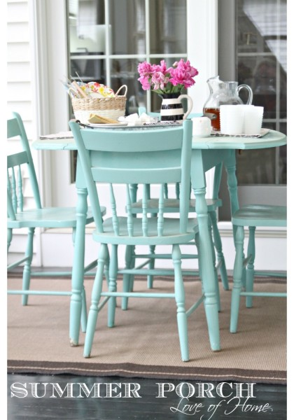 Turquoise-table-and-chairs.-Summer-Porch.-Love-of-Home