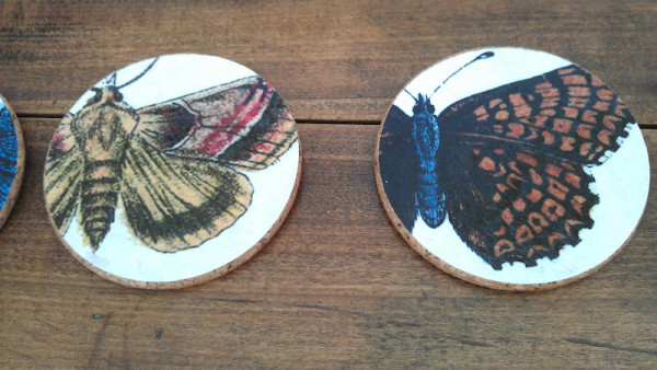 Butterfly Coasters a First Etsy Project