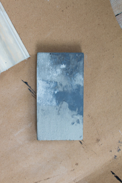 How to create a galvanized finish with paint.