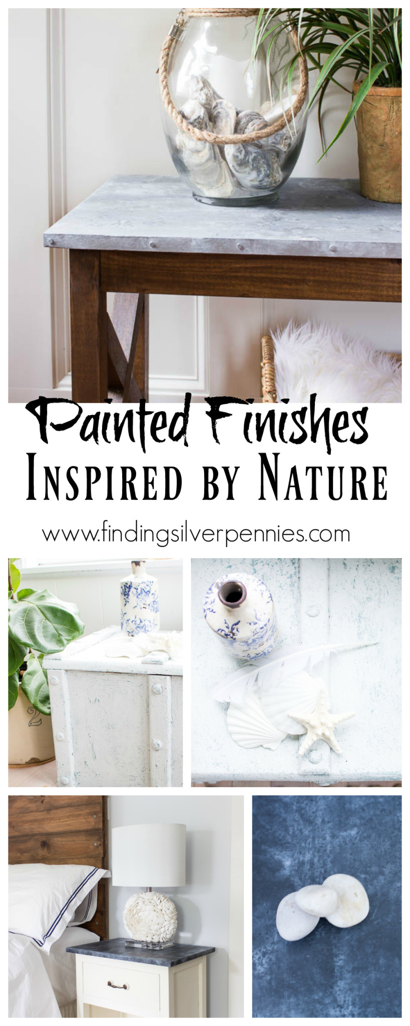 Painted Finishes Inspired by Nature by Finding Silver Pennies