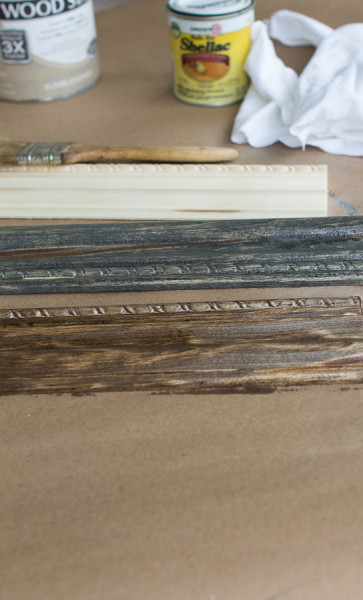 Staining Wood with a variety of shades.