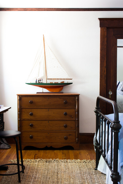 Antique Dresser with Sailboat www.findingsilverpennies.com