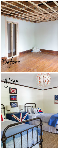 Before and After Coastal Bedroom Makeover / www.findingsilverpennies.com