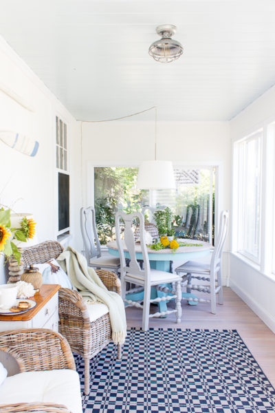 The Best Coastal Paint Colors I Finding Silver Pennies - Simply White in our Sunroom