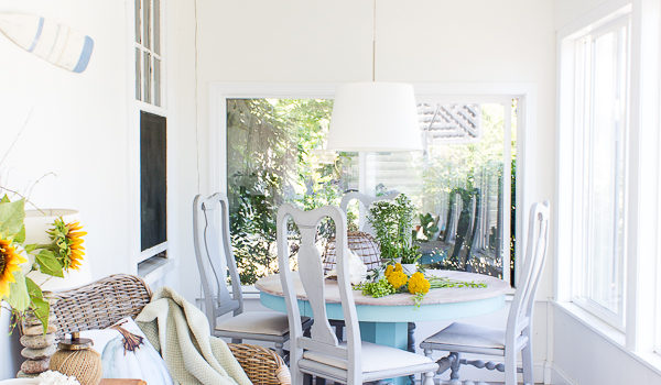 Fall in the Sunroom