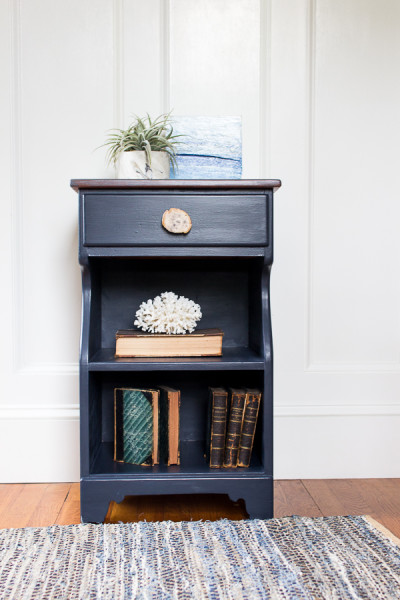 Navy Nightstand by Finding Silver Pennies