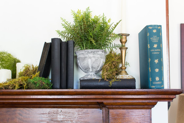 Moss Covered Mantel by Finding Silver Pennies I www.findingsilverpennies.com