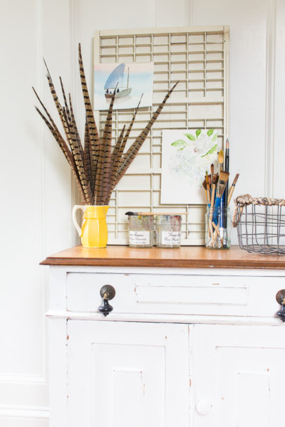 A Farmhouse Cabinet (and how to get a naturally distressed look)