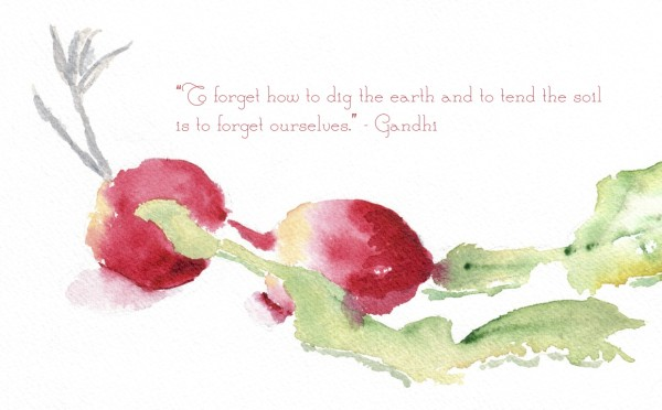 Gandhi Inspiration Quote and watercolor free printable I Finding Silver Pennies I www.findingsilverpennies.com