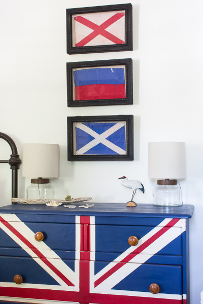 Union Flag Dresser and Nautical Pennants