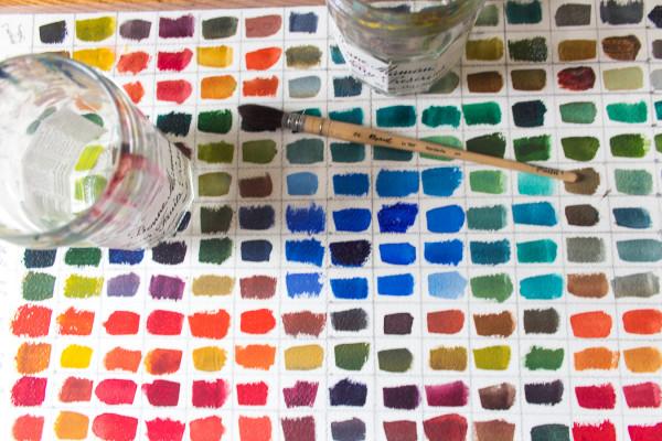Watercolor Chart. www.findingsilverpennies