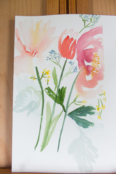 watercolor flowers by Finding Silver Pennies