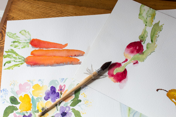 Pretty watercolors celebrating fall. I Finding Silver Pennies I www.findingsilverpennies.com
