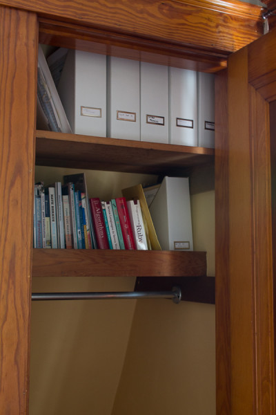 Drab closet before